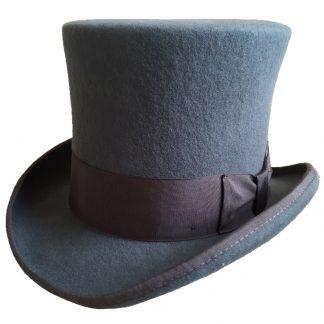 Gray-18-0cm-7-Mad-Hatter-Top-Hat-Victorian-Wool-Felt-Steampunk-Costume-Top-Hat-Cylinder
