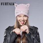 FURTALK-Woman-Knitted-Baby-Hat-Wool-Cotton-Cuff-Beanie-Hat-Ski-Cap-Spring-Autumn-Girls-Hats